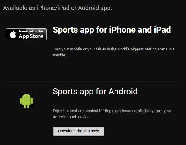 Download the apps either for iOS or Android.