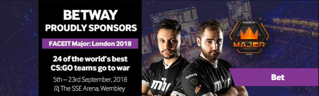 Betway's FACEIT sponsorship.