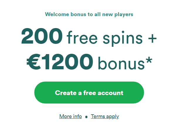 Example of free spins as part of deposit offer.
