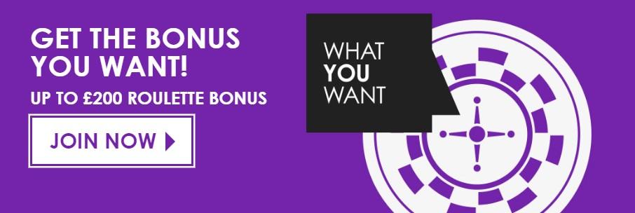 A roulette-specific bonus
