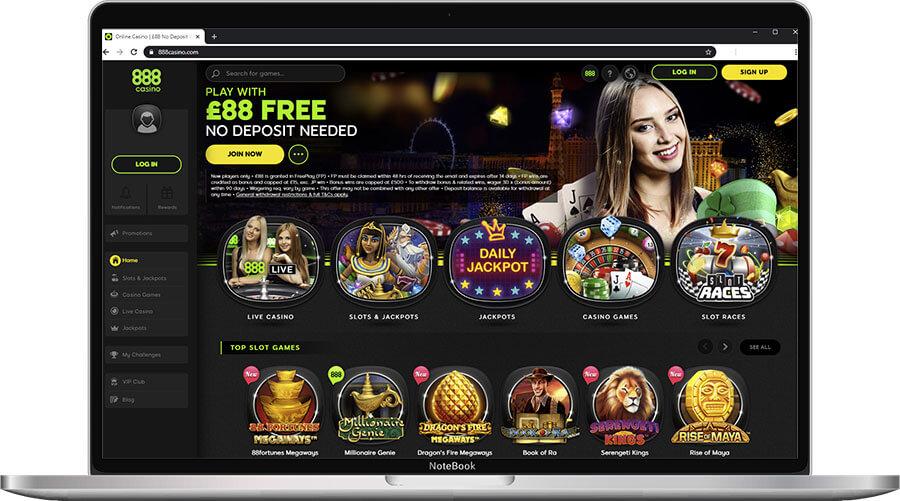 888Casino Home Page